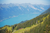 View of Lake Interlaken from Schynige Platte, Bernese Oberland, Swiss Alps, Switzerland, Europe Photographic Print by Christian Kober