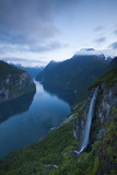 The Dramatic Geiranger Fjord Illuminated at Dusk Photographic Print by Doug Pearson