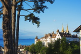 The 15th Century Chateau and Cathedral, Neuchatel, Switzerland, Europe Photographic Print by Christian Kober