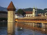 Kapellbrucke Bridge, Lucerne, Switzerland Photographic Print by Gavin Hellier