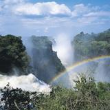 Victoria Falls, Zimbabwe Fotografisk tryk af Geoff Renner