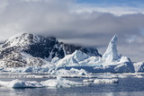 Huge Iceberg Amongst Sea Ice in the Yalour Islands Photographic Print by Michael Nolan