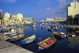 Boats Moored in Saint Julians Bay, Malta Photographic Print by Jeremy Lightfoot