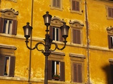 Building Exterior Showing Window Details, Rome, Italy Photographic Print by John Miller