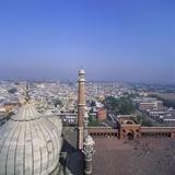 Cityscape and Jama Masjid, Delhi, India Photographic Print by Tony Gervis