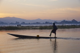 Fisherman on Inle Lake, Shan State, Myanmar (Burma), Asia Photographic Print by  Tuul