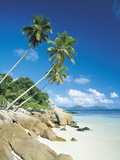Anse Severe with Praslin Island in Background, La Digue, Seychelles Photographic Print by Lee Frost