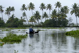 Country Boat in Vembanadu Lake, Kumarakom, Kerala, India, Asia Photographic Print by Balan Madhavan