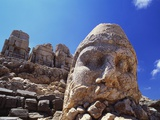 Ancient Stone Sculpture, Nemrut Dag, Turkey Photographic Print by Adam Woolfitt