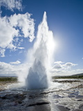 Geysir, Haukadalur Valley, Iceland, Polar Regions Photographic Print by Ben Pipe