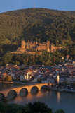 Alte Brucke over River Neckar at Heidelberg, Baden-Wurttemberg, Germany, Europe Photographic Print by Charles Bowman