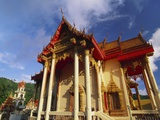 Ornate Buddhist Temple, Ao Patong, Koh Phuket, Thailand Photographic Print by Robert Francis