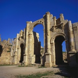 Jerash South Gate in Jordan, Dating from C.130 Ad Photographic Print by Christopher Rennie