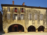 Medieval Stone House, La Bastide D'Armagnac, Landes, Aquitaine, France Photographic Print by Michael Busselle