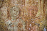 Frescoes at the Tivanka Image House, Polonnaruwa, UNESCO World Heritage Site, Sri Lanka, Asia Photographic Print by Matthew Williams-Ellis