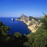Sea and Cliffs by Cap De Formentor, Mallorca, Spain Photographic Print by John Miller