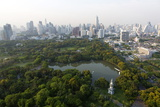City Skyline with Lumphini Park Photographic Print by Lee Frost