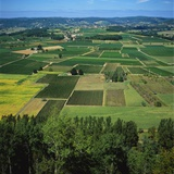 Rural Landscape, Dordogne, Aquitaine, France Photographic Print by Tony Gervis