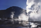 Steam Rising from Geysers and Fumaroles, El Tatio, Atacama, Chile Photographic Print by Geoff Renner