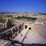 Ancient Roman Oval Forum, Jerash, Decapolis, Jordan Photographic Print by Christopher Rennie