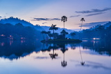 Kandy Lake and the Island Which Houses the Royal Summer House at Dawn Photographic Print by Matthew Williams-Ellis