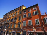 Colourful Buildings in Pisa, Tuscany, Italy Photographic Print by Jean Brooks