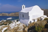 Church by Ormos Harbour, Ios Island, Cyclades, Greece Photographic Print by Gavin Hellier
