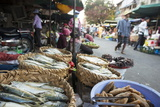 Food Market, Phnom Penh, Cambodia, Indochina, Southeast Asia, Asia Photographic Print by Ben Pipe