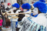 Brass Band, Fasnact Spring Carnival Parade, Monthey, Valais, Switzerland, Europe Photographic Print by Christian Kober
