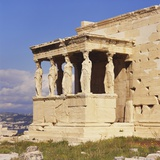 Caryatids, Erechteion, Acropolis, Athens, Greece Photographic Print by Roy Rainford