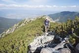 Hiker on Trail, Pirin National Park, UNESCO World Heritage Site, Near Bansko, Bulgaria, Europe Photographie par Christian Kober