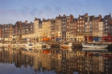 Boats Moored at the Old Dock, Honfleur, Normandy, France Photographic Print by Guy Thouvenin