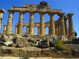 Ancient Greek Temple, Selinunte, Sicily Photographic Print by Michael Newton