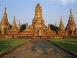 Phra Nakhon Si Ayutthaya, Wat Chai Wattanaram, Thailand Photographic Print by Bruno Morandi