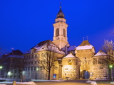 Baseltor City Gate and St. Ursen Cathedral, Solothurn, Switzerland, Europe Photographic Print by Christian Kober