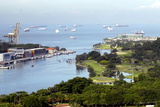 View of Singapore from Carlsberg Tower in Sentosa, Singapore, Southeast Asia, Asia Photographic Print by Balan Madhavan