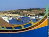 Fishing Boats in Marsaxlokk Harbour, Malta, Europe Photographic Print by Guy Thouvenin