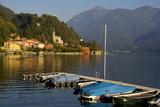 San Mamete, Lake Lugano, Lombardy, Italian Lakes, Italy, Europe Photographic Print by Charles Bowman