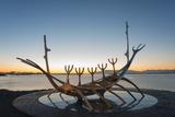 Iceland, Reykjavik, Solfar (Sun Voyager) Photographic Print by Christian Kober