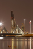 Manama at Night, Bahrain, Middle East Photographic Print by Angelo Cavalli