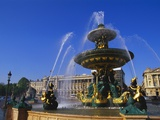 Elevation of the Maritime Fountain and Hotel De Crillon, Place De La Concorde, Paris, France Photographic Print by Neale Clarke