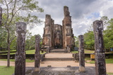 Buddha Statue at Lankatilaka Gedige, Polonnaruwa, UNESCO World Heritage Site, Sri Lanka, Asia Photographic Print by Matthew Williams-Ellis