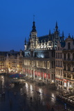 Maison Du Roi at Dusk, Grand Place, UNESCO World Heritage Site, Brussels, Belgium, Europe Photographic Print by Charles Bowman