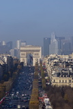 Elevated View of Champs Elysees, Arc De Triomphe and La Defense, Paris, France, Europe Photographic Print by Charles Bowman