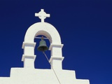 Top of Belltower, Mikonos, Cyclades, Greece Photographic Print by Lee Frost