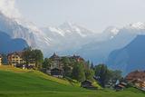Wengen, Bernese Oberland, Swiss Alps, Switzerland, Europe Fotografisk tryk af Christian Kober