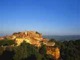 Roussillon Village on a Cliff-Top, Languedoc-Roussillon, France Photographic Print by John Miller