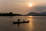 Father and Son Fishing on Kampong Bay River at Sunset Photographic Print by Ben Pipe