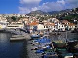Camara De Lobos Harbour, Madeira, Portugal Photographic Print by Hans-Peter Merten