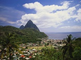 Soufriere, St Lucia, Caribbean Photographic Print by Lee Frost